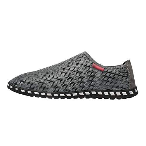 Moda Uomo Sneakers Slip YAANCUNN Traspiranti Scarpe Basse Running Sneakers Mesh On Grigio 5fwnnATq