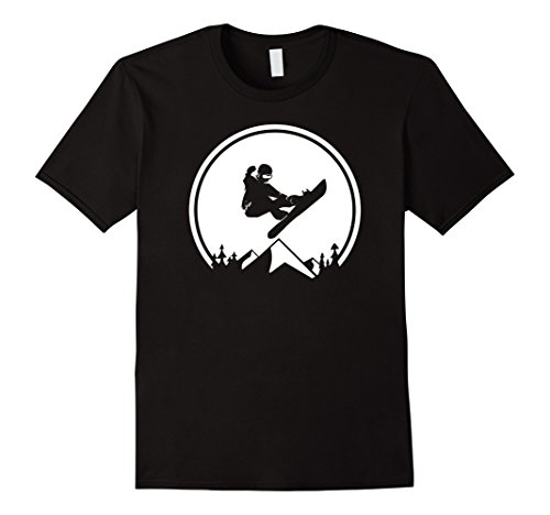 Snowboard Shirt, Snowboarding Silhouette, Big Air T-shirt