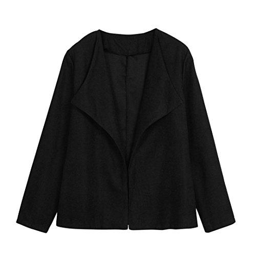 Internet Traje Slim casual de oficina de mujer Chaqueta de negocios Blazer Moda Negro