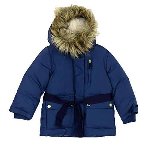 J Crew Puffer (J Crew Crewcuts Furry Hooded Puffer Jacket Size 3 Style# 02720 Blue)