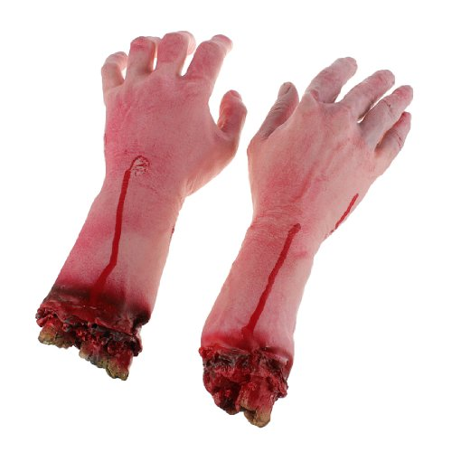Terror Severed Bloody Fake Lifesize Arms Hands by Bggoodidea -
