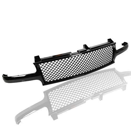 (AA Products Luxury Sport Mesh Grille Compatible Chevy Silverado 1500 2500 1999 up to 2002 / Tahoe/Suburban 2000 up to 2006 ABS Replacement Front Grille with Shell Gloss)