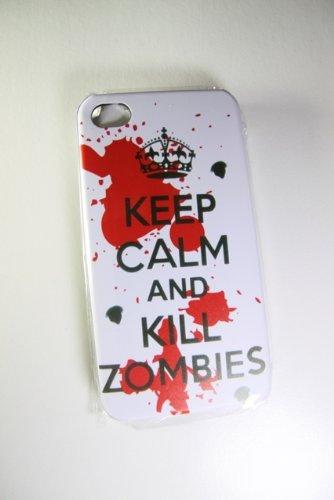 KEEP CALM AND KILL ZOMBIES CLASSIC Case SUPREME OBEY UK Flag Union Jack United Kingdom Apple iPhone 4/4S