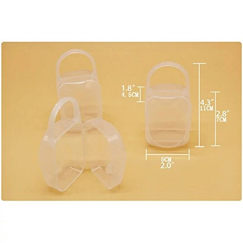 Sealive Baby Pacifier Storage Box Baby Supplies Dustproof and Dirty Nipple Storage Box PP Material 3pcs by Sealive (Image #5)