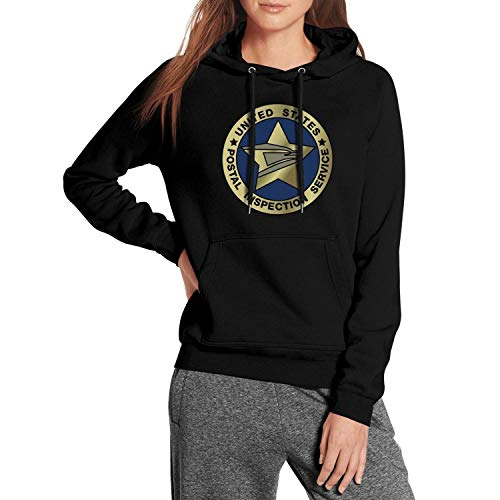 - Womens United-States-Postal-Inspection-Service-USPS-Black Fleece Pullover Heavy Blend Hoodies Sweatshirts Sweater Coat