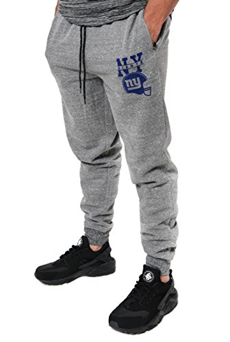 NFL New York Giants Men's Jogger Pants Active Snow Fleece Sweatpants, Small, Gray ()