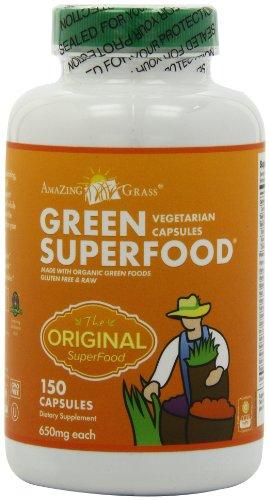 Amazing Grass Green Super Food , 150 Vegetarian Capsules, Health Care Stuffs