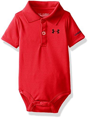 Logo Infant Bodysuit - Under Armour Baby Boys' Logo Polo Bodysuit, red, 3/6M