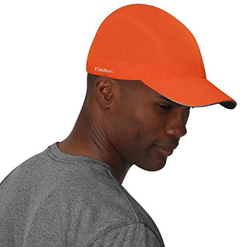 - TrailHeads Race Day Performance Running Cap | The Lightweight, Quick Dry, Sport Cap for Men - 5 Colors - Orange Peel