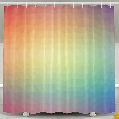 Lovely SARA NELL Shower Curtain Mold And Mildew Resistant Geometrical Gradient Rainbow Color Bath