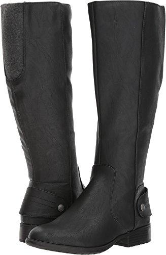 LifeStride Women's Xandy Equestrian Boot, Black, 6 W US