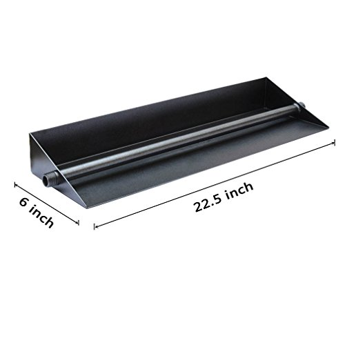 Stanbroil 22inch Powder Coated Steel Fireplace Ember Pan with Linear Burner