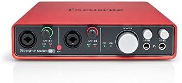 Amazon.com: Interfaz de audio Focusrite Scarlett 6i6 de 6 ...