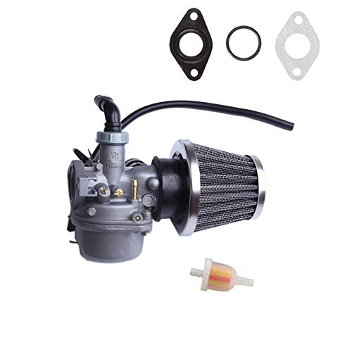 Chanoc PZ19 Carburetor with Air Filter Fuel Filter for 50cc 70cc 90cc 110cc 125cc Kid's ATV Scooter Dirt Bike Pocket Bike (Ssr 110 Carburetor)