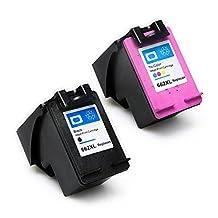 ESTON 2 Pack #662 XL Black/Color Ink for HP Deskjet Ink Advantage 1015 1515 2515 2545 2645 3515 3545 4645 (Shows Accurate Ink Level)