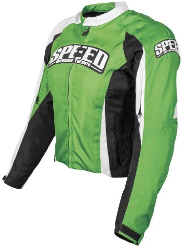 Speed and Strength Womens Throttle Body Textile Jacket 2013 Green L/Large