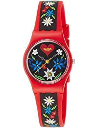 LR129 Ladies Roetli Red Silicone Strap Watch