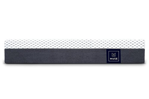 Muse Cooling Gel Memory Foam Mattress - Queen Size, Firm - Sleeps Cooler Than Traditional Foam -...