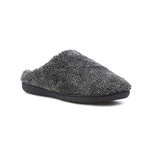 The Slipper Company Mens Grey Soft Towelling Mule Slipper Grey EYSLKqJge