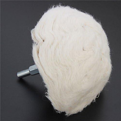CHUNSHENN 100mm Cotton Dome Polishing Wheel Mop Buffing Wheel For Rotary Tool Buffing Wheels