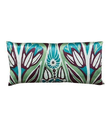 Jane Inc Silk Eye Pillow Lavender Filled Nouveau Teal & Purple