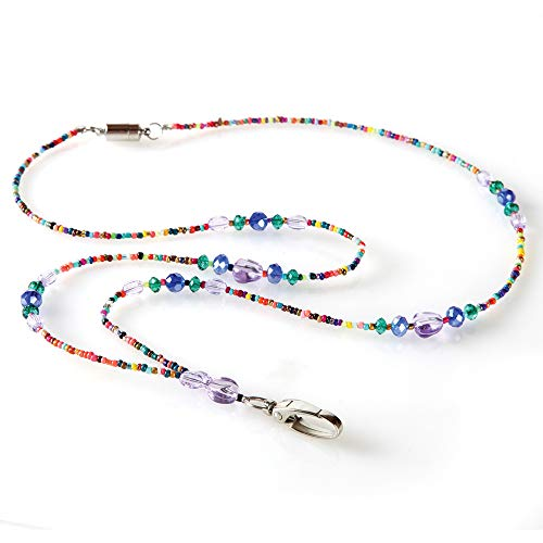 Mardi Gras Beaded ID Necklace