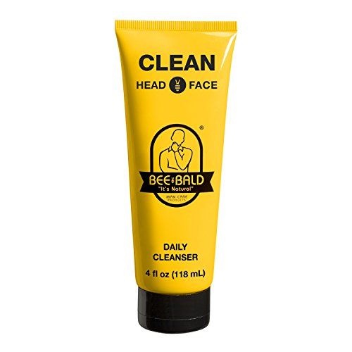 Bee Bald Clean Head and Face Wash Shampoo, 4 oz
