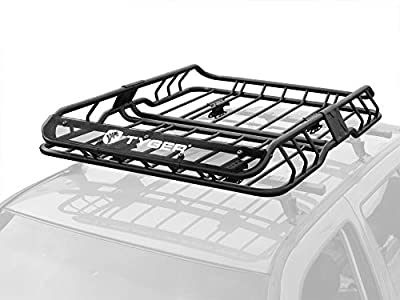 """TYGER Heavy Duty Roof Mounted Cargo Basket Rack 