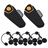 Boblov BT-S2 1000M BT Motorcycle Helmet Headset Motorbike Intercom Headset Interphone FM