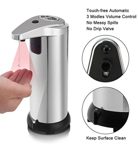 Spa Fitness Essentials Stainless Steel Smart Sensor countertop soap Dispenser for Kitchen and Bathroom by Spa Fitness Essentials (Image #7)