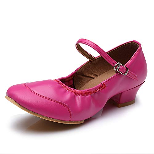 Salsa SS Shoes Leather GCW Ballroom Outdoor Latin Indoor Shoes HROYL Dance Pink Women Dance Performance 1UZwqaaYn