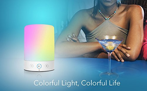 MOXNICE Table Lamp with Bluetooth Speaker Portable Dimmable Night Lights Smart Touch Wireless Speaker Bedside Lamps with Color Changing,Hands-free,Timing Function, Best Gift for Baby Kid Teen Women by MOXNICE (Image #5)