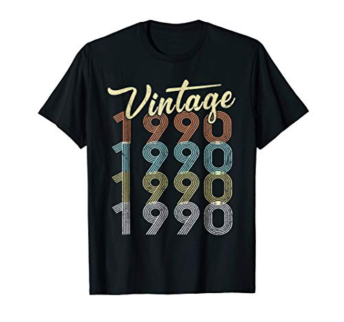 28th Birthday Gifts Vintage 1990 Shirt 28 Years Old Awesome