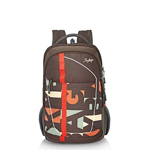 Skybags Geek 48 Ltrs Brown Laptop Backpack with Raincover