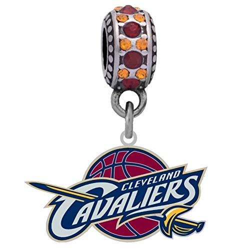 Final Touch Gifts Cleveland Cavaliers Logo Charm Fits European Style Large Hole Bead Bracelets