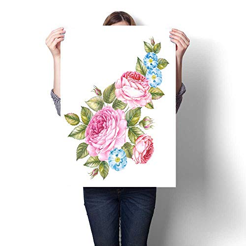 ting Sticker Bouquet of Rose Invitation Card for Wedding Birthday and Other Holiday and Summer Background Botanical Illustration Print On Canvas for Wall Decor 32