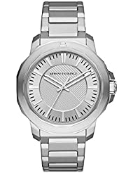 Armani Exchange Mens Quartz Stainless Steel Casual Watch, Color:Silver-Toned (Model: AX1900)