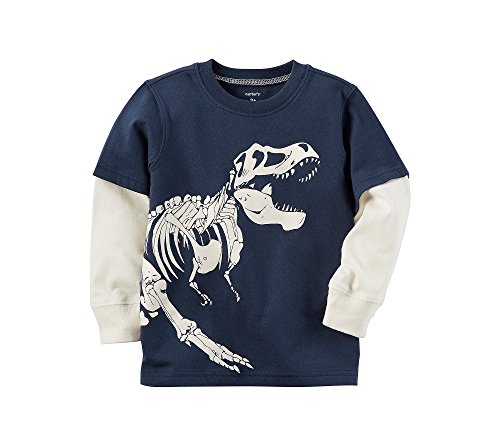 Layered Look Graphic Tee - Carter's Baby Boys' Layered Look Glow In The Dark Dinosaur Graphic Tee 3 Months