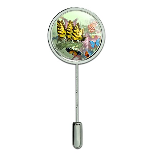 (GRAPHICS & MORE Butterflies Butterfly Magical Emergence Tiger Swallowtail Stick Pin Stickpin Hat Brooch)