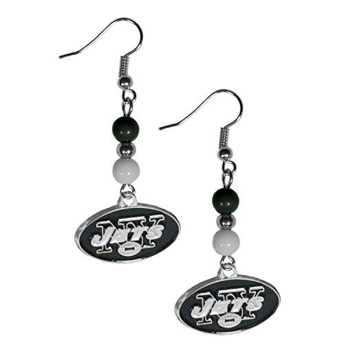 Jet Dangle (NFL New York Jets Fan Bead Dangle Earrings)