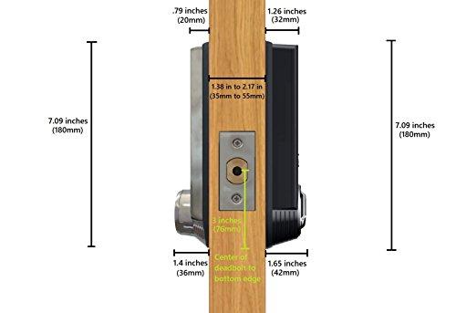 Samsung SHS-3321 Digital Door Lock, Black, Keyless, Electronic, Deadbolt