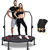 CLORIS Foldable Portable Trampoline, 40-50 inch Max Load 400 lbs Trampoline Mat Exercise Fitness Trampoline fo