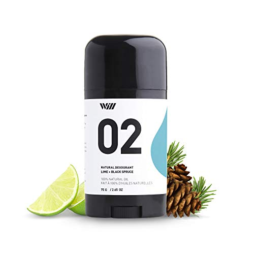 02 Natural Deodorant Stick, Aluminum Free Deodorant, Paraben Free Deodorant Stick, 24-Hour Protection Underarm Deodorant (Lime and Black Spruce) - Way of Will