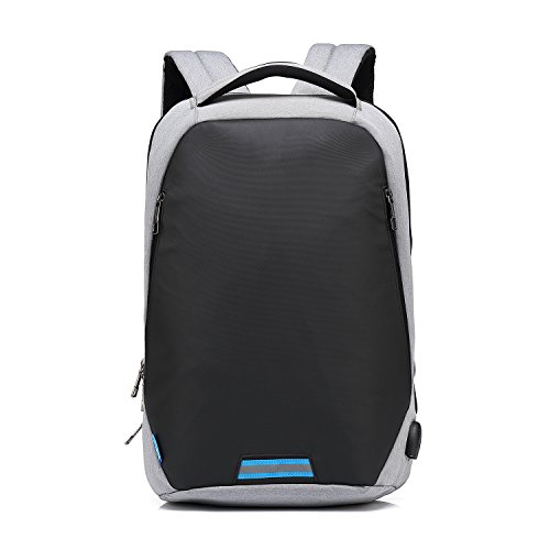 High Density Port Tube - Commuter Backpacks 15 Inch Business Laptop Backpack for Men Women Waterproof Notebook Computer Backpack with USB Port