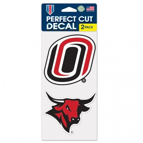 "WinCraft NCAA University of Nebraska-Omaha Perfect Cut Decal (Set of 2), 4"" x 4"""