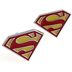 Superman Cufflinks, Father's Day, Valentine's Gift, Gift Box Included