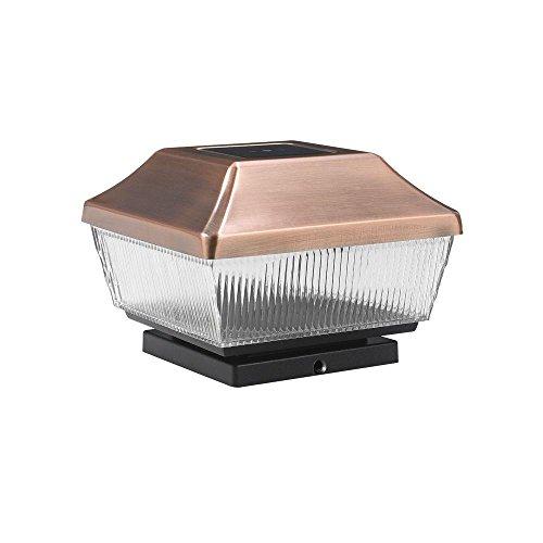 Lighthouse Solar Post Light (Outdoor Solar Copper Led Post-light (2-pack))