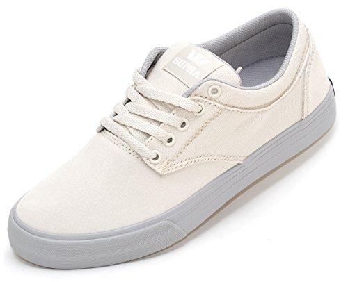 Supra - Zapatillas de Piel para hombre blanco White-Light Grey, color blanco, talla 41 / 8