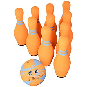 Sportime Junior Ultrafoam Bowling Set, Orange – 087974