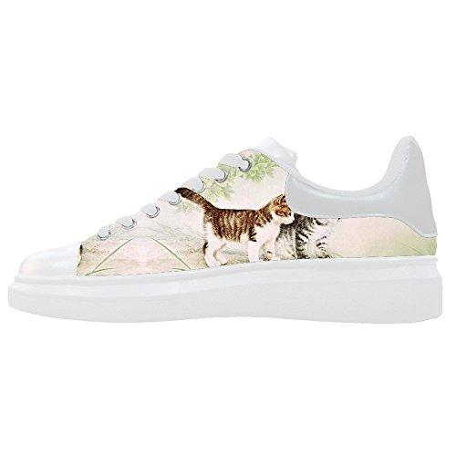 Cats Personnalisés Peinture Womens Toile Chaussures Chaussures Chaussures Chaussures.